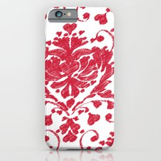 giving hearts giving hope: red damask iPhone 6 Slim Case