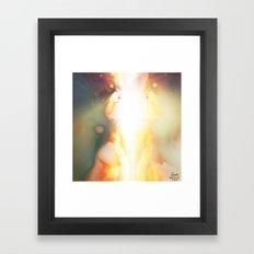Sky Signs [Digital Figure Illustration] Framed Art Print