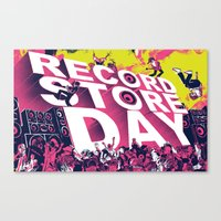 Record Store Day Canvas Print