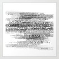 Names Of God Art Print