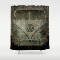 VW Zombiemobile - A killer Zombie bus Shower Curtain
