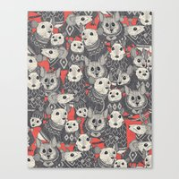 sweater mice coral Canvas Print