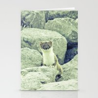 Stoat be Alarmed Stationery Cards