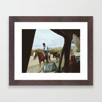 Passing Framed Art Print