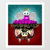 Angel And Demon RonkyTon… Art Print
