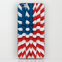 3D Poly Usa Flag iPhone & iPod Skin