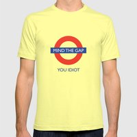 Mind The Gap Mens Fitted Tee Lemon SMALL