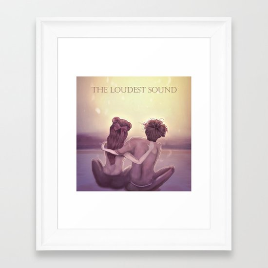 THE LOUDEST SOUND Framed Art Print