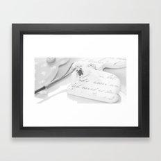 OSTERN - SCHWARZ/WEISS Framed Art Print