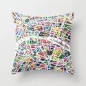A map of Paris Throw Pillow