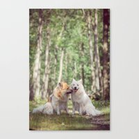 Give Us A Peck! The Two … Canvas Print