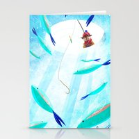 Ice Fisher's Nap Stationery Cards