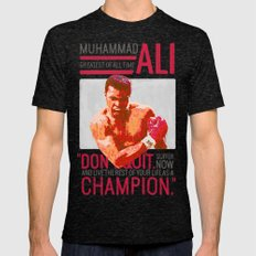 Muhammad Ali - G.O.A.T. Mens Fitted Tee Tri-Black SMALL