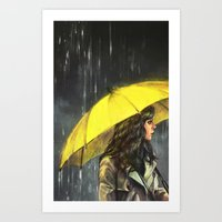 All Upon the Downtown Train Art Print