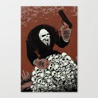 Monkey Skull Suit Canvas Print