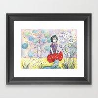Enid On Acid Framed Art Print