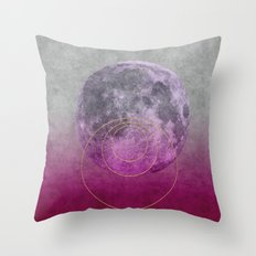 Talking to the moon Throw Pillow