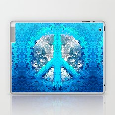 Abstract Blue Peace Sign Laptop & iPad Skin
