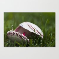 Broken Baseball  Canvas Print