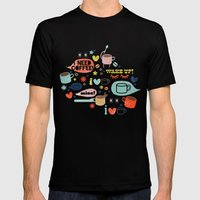 Caffeine Addict Mens Fitted Tee Black SMALL