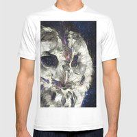 cosmic owl Mens Fitted Tee White SMALL