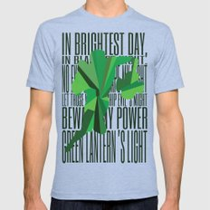 Green Lantern - Quote Mens Fitted Tee Tri-Blue SMALL