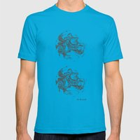 Swirling World V.2 Mens Fitted Tee Teal SMALL