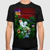 Floral Fae Mens Fitted Tee Tri-Black SMALL