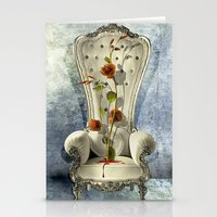 Queen Nature Is Bleeding Stationery Cards