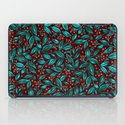 ORANGE BERRIES TURQUOISE LEAVES iPad Case
