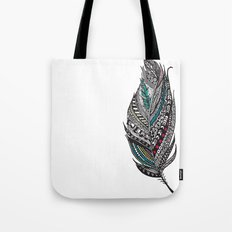 Single Aztec Feather  Tote Bag