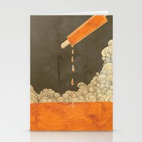 Orange Dreamsicle Stationery Cards