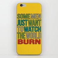 Watch The World Burn. iPhone & iPod Skin