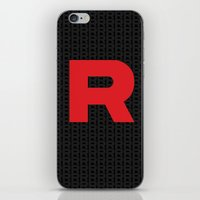 Team Rocket Minimal R Design Pocket Monsters Poke Mon  iPhone & iPod Skin