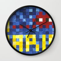 I Space Invader Paris Wall Clock