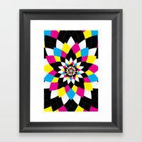 CMYK Argyle Framed Art Print