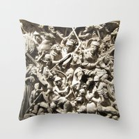Roman Battle Throw Pillow
