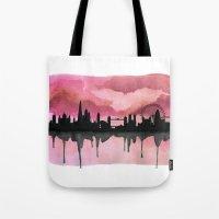 London Skyline 2 Pink Tote Bag