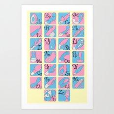 Vibrator Alphabet Art Print