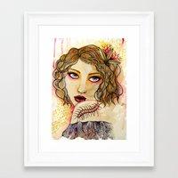 Cecilia and the Centipede Framed Art Print