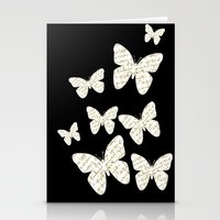 French Script Butterflie… Stationery Cards