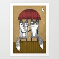 SHADY COUPLE Art Print