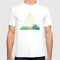 Succulent Forest Mens Fitted Tee White SMALL