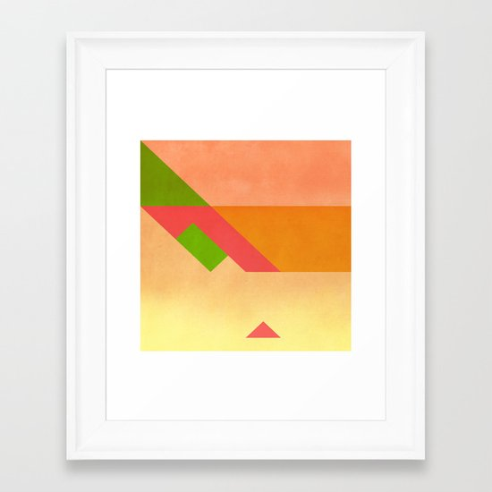 Match  Framed Art Print