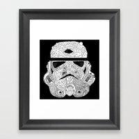 Gore Trooper Blk/Wht Framed Art Print