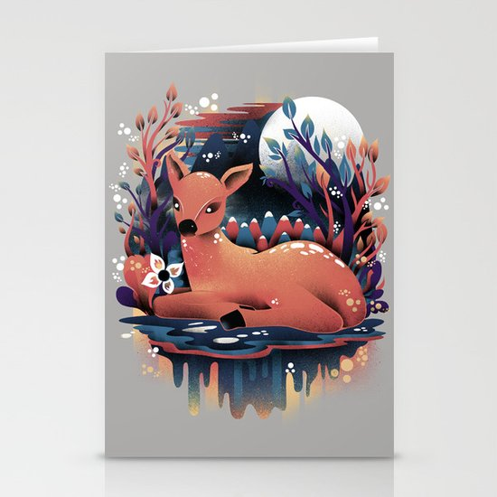 The Red Deer Stationery Card