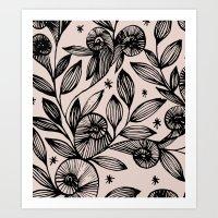 Magical Flowers  Art Print