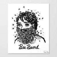 Bee Beard Canvas Print