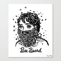 Bee Beard Canvas Print