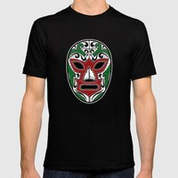 Mexican Wrestling Mask -… Mens Fitted Tee Black SMALL